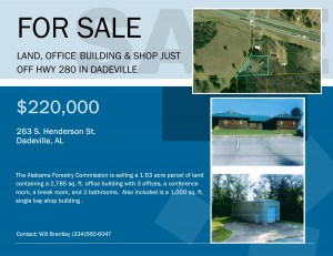 State of Alabama Forestry Building with storage for sale in Dadeville
